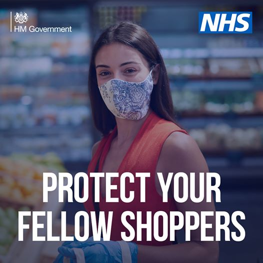 protect your fellow shoppers, wear a face covering image
